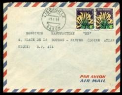Frans Equatoriaal Afrika 1958 Luchtpostbrief Naar Nantes - A.E.F. (1936-1958)