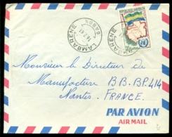Gabon 1961 Luchtpostbrief Naar Nantes - Gabon