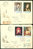 Roemenie 1968 FDC's (2) Paintings (not Complete) Stamps On Back - FDC