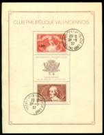 "France 1937 Carte Speciale ""Club Philatélique Valenciennois"" No. 261 De 1.500 Exemplaires - Francia"