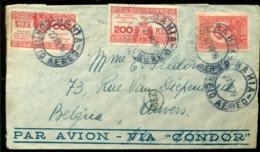 Brazilië 1939 Luchtpostbrief  Naar België Met Yv 311 (2) En Luchtpost 23 - Airmail