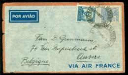Brazilië 1940 Luchtpostbrief Naar België Met Yv 176  En 209A - Airmail