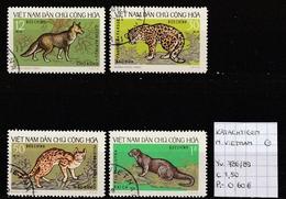 Katachtigen - Noord-Vietnam Yv. 786/89 Gestempeld/oblitéré/used - Felinos