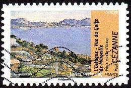 Oblitération Moderne Sur Adhésif De France N°  826 - Impressionnisme Et L'eau. Cézanne L'Estaque, Golf De Marseille - France