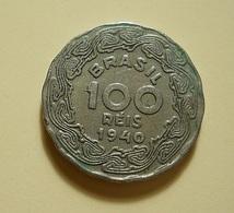 Brazil 100 Reis 1940 - Brazil