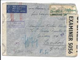 Schweiz 391,392 MiF - 1,50 Fr Luftpost-Bedarfsbrief Von St. Gallen über Stuttgart Nach Santos Bedarf M.  2 Zensuren - Suisse
