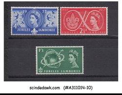 GREAT BRITAIN - 1957 50th ANNIVERSARY OF BOY SCOUT JAMBOREE - 3V MNH - 1952-.... (Elizabeth II)