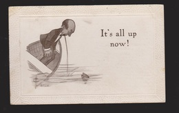 Comic Postcard - Man In Boat Throwing Up - Used - Comics