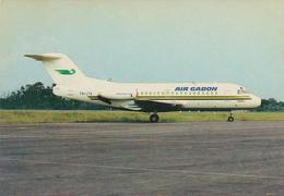 [484] AIR GABON, Fokker 28.- Official Postcard. - Unwrited. Non écrite. No Escrita. Non Scritta. Nicht Geschrieben. - 1946-....: Era Moderna