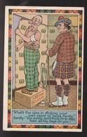 Comic Postcard - Cheap Scotsman Joke - Used 1969 - Comics