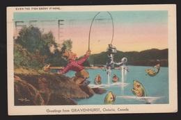 Comic Postcard - Even The Fish Like It Here - Used 1946 - Comics