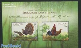 Singapore 2013 Joint Issue With Vietnam S/s, (Mint NH), Nature - Birds - Poultry - Various - Joint Issues - Joint Issues