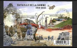 FRANCE 2016 - Centenaire 1ere Guerre Mondiale, Bataille De La Somme - Oblitérés