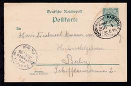CÖLN (RHEIN)-HANNOVER BAHNPOST ZUG 1 25.6.96 Auf Gansache, Karte Etwas Unfrisch - Allemagne