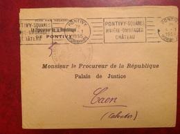 Pontivy Procureur Parquet De Nantes - Postmark Collection (Covers)