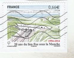 FRANCE 2014 OBLITERE SUR FRAGMENT 20 ANS DU LIEN FIXE SOUS LA MANCHE YT 4861 -                                   TDA268 - France
