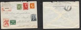 NETHERLANDS  Air Mail Registered NIJVERDAL 2 III 46 > PEHOBOTH S.W.AFRICA, LEOPOLDVILLE (Congo) Transit - Periodo 1891 – 1948 (Wilhelmina)
