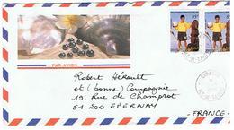 ENVELOPPE MONDIAL 1998    TAHITI *****  A SAISIR  ***** - Tahití