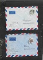 Germany 2 X Air Covers, 70pf, 80pf FRANKFURT > S.Africa - [7] Federal Republic