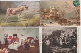 18 / 8 / 330. - LOT  DE 500 CPA / CPSM  FANTAISIES '( Thèmes Divers )  À  26€ ,50. +. PORT - Postcards