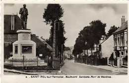 St Saint Pol Sur Ternoise Boulevard Gambetta Mont De Wezieres - Saint Pol Sur Ternoise