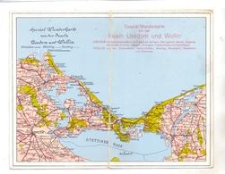 POMMERN - WOLIN / WOLLIN  & USEDOM, Klapp-Karte Stettiner Haff - Pommern