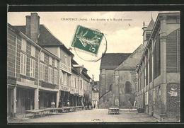 CPA Chaource, Les Arcades Et Le Marché Couvert - Chaource