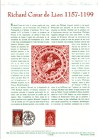 1999 DOCUMENT FDC RICHARD COEUR DE LION - Documents De La Poste