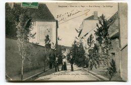 CPA 89 : NOYERS Fêtes Rue D'Annay Le Collège   VOIR  DESCRIPTIF   §§§ - Noyers Sur Serein
