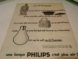 ANCIENNE PUBLICITE LAMPE PHILIPS 1959 - Publicité