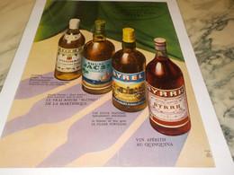 ANCIENNE PUBLICITE BYRRH -BYREL-VIOLET-JACSI 1959 - Alcohols