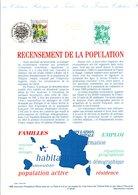 1999 DOCUMENT FDC RECENSEMENT DE LA POPULATION - Postdokumente