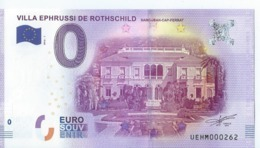 2016  BILLET TOURISTIQUE 0 Euro  Villa Ephrussi De Rotchild     Dpt 06 Numero Aleatoire   Port 1.20 - EURO