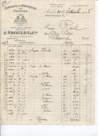 FABRIQUE DE BROSSERIE PEIGNES - Ets L.TROULET Cie - PARIS - Rue Réaumur - Datée 1928 - Artesanos