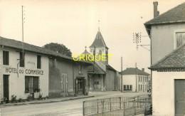 01 St Nizier-le Bouchoux, Carte Photo Du Bourg, Hotel Du Commerce Et Eglise - France