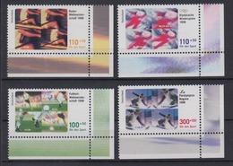 Bund 1968-1971 Eckrand Rechts Unten Sporthilfe Kompletter Satz Postfrisch - [7] République Fédérale