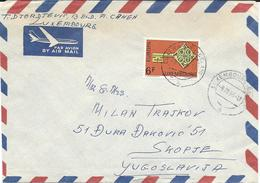 Luxembourg Par Avion Letter Via Yugoslavia 1969. - 1968 EUROPA CEPT - Luxembourg