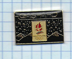 Pin's Pins /  THEME JEUX OLYMPIQUE  -  SPORT SKI GASPARD 92 JEUX OLYMPIQUES OLYMPIC GAMES ALBERVILLE - Jeux Olympiques