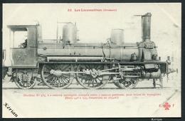 F. Fleury - Les Locomotives (Orléans) - N°82 - Machine N°535 Type 121 Pour Trains Voyageurs - Voir 2 Scans - Treinen