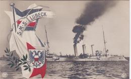 Alte Ansichtskarte Von Der S.M.S. Lübeck - Ausrüstung