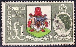 BERMUDA 1953 QEII £1.00 Brown, Blue, Red, Green & Bronze-Green SG150 Fine Used - Bermuda