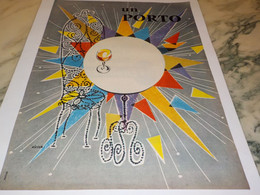 ANCIENNE PUBLICITE  PORTO 1959 - Alcohols