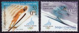 Yugoslavia 2006 Winter Olympic Games Turin Torino Skiing Ski Jumping Sport, Set MNH - Winter 2006: Torino
