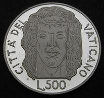 VATICANO 1998  OSTENSIONE DELLA SACRA SINDONE L. 500 ARGENTO PROOF - Vatican