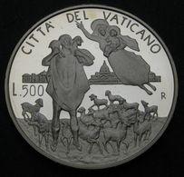 VATICANO 1996   50° ANNIVERSARIO SACERDOZIO L. 500 ARGENTO  FDC - Vatican