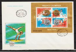 1988 - J.O.SEUL  Mi No Block 250/251 - FDC