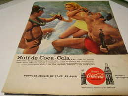 ANCIENNE PUBLICITE SOIF DE COCA COLA 1959 - Posters