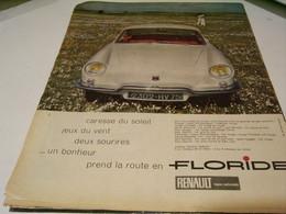 ANCIENNE PUBLICITE VOITURE FLORIDE RENAULT 1959 - Cars