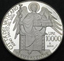 VATICANO 2000 LIRE 10000 ANNO SANTO ARGENTO PROOF - Vatican