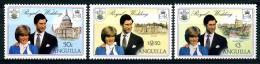 Anguilla 409 à 411** , Mariage Lady Dy - Anguilla (1968-...)